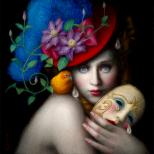 pintura, óleo, oil, surrealismo, máscara, mascarada, mask, arte, arts, carnaval